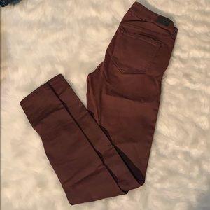 Pants - Burgundy skinny jeans